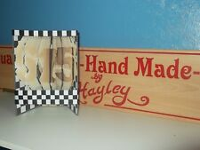 Handmade book folded book. This one is 515 Frankie Wainman Junior Stockcar Racin