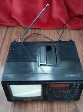 ALBA PTV-10 CRT COLOR TV Games Monitor Alarm Clock Radio Working Rare Retro Gold