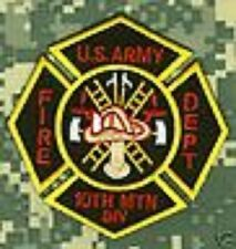 OIF OEF 10TH MOUNTAIN DIV FIREFIGHTER IRON CROSS PATCH
