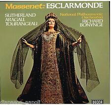 Massenet: Esclarmonde / Bonynge, Sutherland, Quilico, Aragall - LP Vinyl 33 Rpm