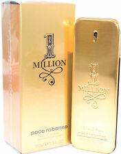 1 Million by Paco Rabanne Eau De Toilette 3.3/3.4 OZ for Men New In Box
