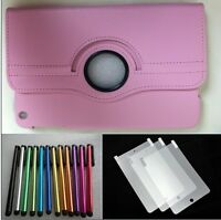 IPAD 4 LEATHER 360° ROTARY CASE COVER FOR APPLE IPAD 2 3 FREE SP AND TOUCH PEN