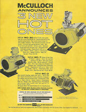 Vintage Beautiful 1960's McCulloch Hot Ones Go-Kart Ad