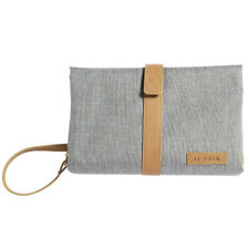 JJ Cole Baby Nappy/Diaper Changing Clutch Mat/Pad/Foldable Handbag/Bag - Grey