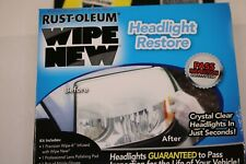 Rust-oleum Wipe New Headlight Lens Wipes Clear System Restore Kit Cleaner