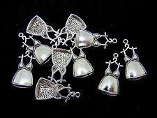 10 Pcs Tibetan Silver Ladies Dress Frock Charms Jewellery Girl Fashion 33mm A156