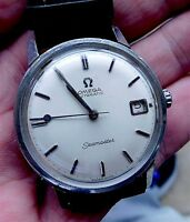 VINTAGE MENS OMEGA SEAMASTER AUTOMATIC STAINLESS STEEL WRIST WATCH WITH DATE