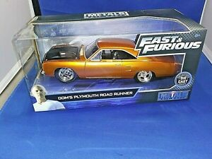 2019 Fast & Furious Dom's Plymouth Road Runner Collectors Diecast 1:24 Scale