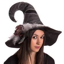 Cappello da Strega in Tessuto Accessori Costumi Halloween e Carnevale  44x30cm 77ee3d2c1d34