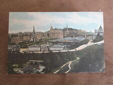 Valentine's postcard  - Edinburgh scene from Castle