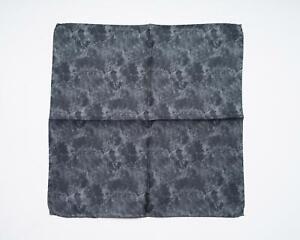 "Battisti Black Tonal Floral Abstract 100% Silk Designer Pocket Square 13"""