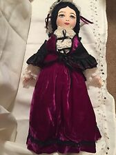"Vintage Elegant European Lady Cloth Doll Artist made 24"" , embroidered face,"