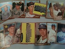 Topps 1962 Baseball lot 65 cards VG- to Ex/nm- incl 1 high #, o/c
