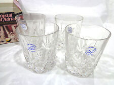 vintage 1980's D'Adriana 24% lead crystal glassware set of 4