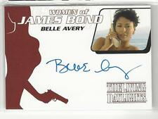BELLE AVERY Auto 2014 James Bond Archives Women of Bond Autograph WA39