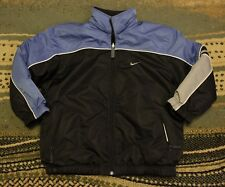 Nike Boys Reversible Winter Fleece Jacket Coat Zip Front Youth Small Size 8