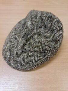 Barbour 100% Wool Flat Cap 7 1/8 #639