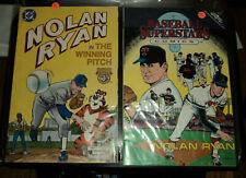 2 Comic Book of Nolan Ryan in The Winning Pitch and BASEBALL SUPERSTARS