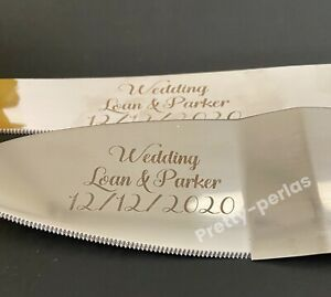 Personalized Custom Wedding Quinceanera Cake Knife and Server Set Engraved Set