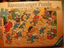 SCTROUMPFS PUZZLE RAVENSBURGER 100 PIECES 1997 JAMAIS OUVERT