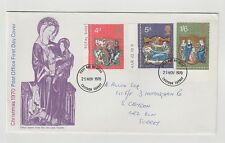 UNITED KINGDOM FIRST DAY COVER CHRISTMAS 1970 ADDRESSED SLIGHT CORNER CREASE