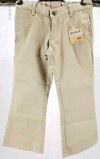 NWT LANDS' END Flat Front Blend Chino Khaki Bootcut Uniform Pants Girl's 4  $30