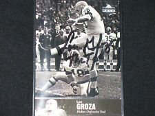 LOU GROZA  1997 UPPER DECK LEGENDS  autograph card  CLEVELAND BROWNS