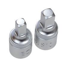 """Juego de dos llaves de vasos para Tapon del Carter 8 y 10 mm carraca 1/2"""" PSA"""