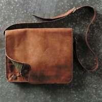 New Men's Genuine Handmade Leather Messenger Shoulder Bag  Macbook Laptop Bag