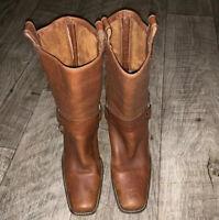 "Michael Kors Women's Size 9 Westbury Boots Pull On 3"" Heel Congac Distressed"