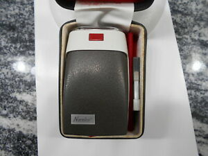 NORELCO VINTAGE BATTERY SHAVER, TYPE HP1203. ORIGINAL CASE AND BRUSH.