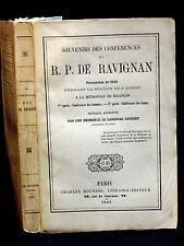 DE RAVIGNAN PENDANT LA STATION DE L'AVENT à BESANÇON en 1842 - SOUVENIRS - 1863