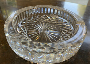 Waterford Lead Crystal 15cm Vintage Cut Glass Ashtray in Excellent Condition