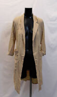 Boohoo Women's Alice Woven Pocket Duster LP7 Beige Size US:6 UK:10 NWT