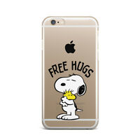 Free Hugs New iPhone X XS Max XR Silicone Snap Cover Cute Snoopy Dog iPhone 7 8+