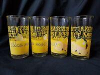 Highball Glasses KSA Mid Century Lemonade Lemon Yellow Slice Me Pucker Face