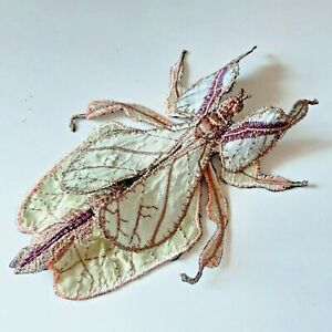 Leaf Mantis Realistic Large Handmade Sew-On Embroidered Patch