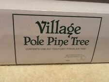 "Dept 56 Village Accessory - Pole Pine Tree 10.5"" -  #55298 - Mint In Box"