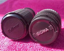 Vintage Camera Lens Lot Of 2 (Sigma 20-80mm, Kalimar 80-200mm) + Tiffen Filter