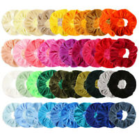 40 PCS VELVET HAIR BAND ELASTIC HAIR BANDS HAIR SCRUNCHIE PONYTAIL HOLDER NEW UK