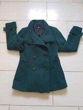 Grüner Damen Kurzmantel Wollmantel Trenchcoat Style von H&M, Größe 38