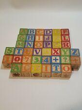 Wooden Alphabet Blocks Lot of 40.