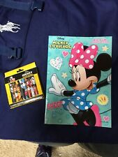 Minnie Mouse And Friends Coloring Book And 10 Jumbo Crayons Unused
