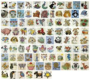 British Mouseloft Stitchlets Fun Size Quick Easy Counted Cross Stitch Kits New