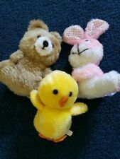 Three Assorted Stuffed Animals - Vintage
