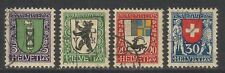 Switzerland 1925 Pro Juventute--Attractive Heraldry Topical (B33-36) fine used