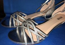 "Paradox London Pink Avery Heels - 11/2"" SANDALS Size 10 Silver Glitter NIB SHOES"