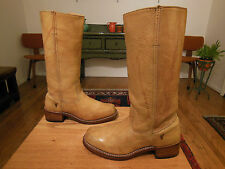 Vtg FRYE Women's Mottled Light Tan Leather Campus Boots 8.5M USA #77050 XLNT!