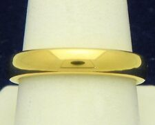 DURA TUNGSTEN DOMED BAND GOLD IMMERSED PLATING 4.30mm WEDDING BAND RING SIZE 10