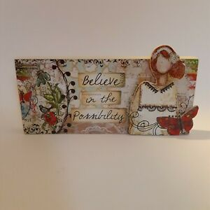 Carson Home Accents Deco Plaque Believe in the Possibility Christy Tomlinson 8x4